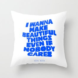 Saul Bass - Just Make Beautiful Things [Clear Version] Throw Pillow