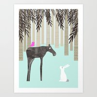 moose Art Prints featuring Moose by Dream Of Forest