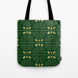 Emerald Art Deco Fan Tote Bag
