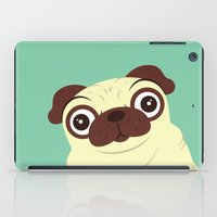pug iPad Cases featuring Pug by Hoborobo