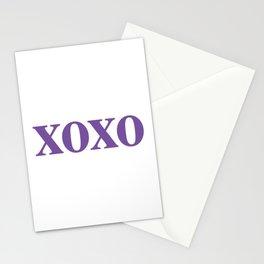 Purple XOXO Stationery Cards