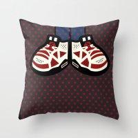 air jordan Throw Pillows featuring AIR JORDAN 6 by originalitypieces