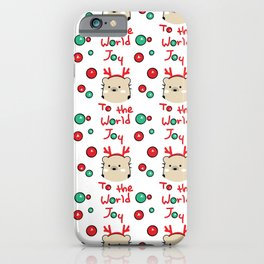 Mochie -Joy to the world iPhone Case