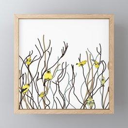 Goldfinches in Tree Framed Mini Art Print