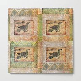 Painted Bird Metal Print