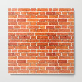 Brick wall patern Metal Print