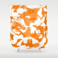 egg Shower Curtains featuring Egg by Cart My Art