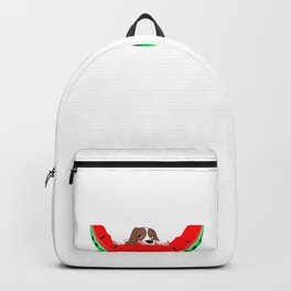 Cute Puppy Eating A Watermelon Dog Love Backpack