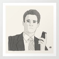 dale cooper Art Prints featuring Agent Dale Cooper by Orphan Elliott