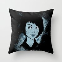 tron Throw Pillows featuring Tron - Quorra by Alifaun