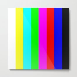 SMPTE color bars | TV Color Test Bars | Stand By Colour Bars Metal Print