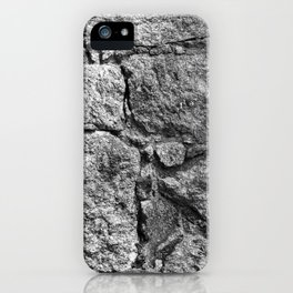Old igneous stone wall iPhone Case