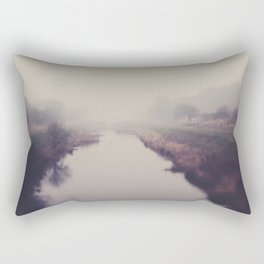true beauty is a foggy landscape in the English Fens. Rectangular Pillow