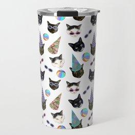 Festive Birthday Cat Party Travel Mug