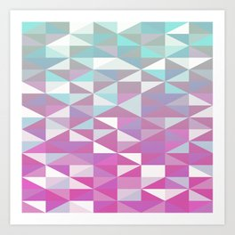 Purple Turquoise Rhombus - Pattern Art Print