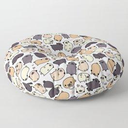 Pug Life Doodle Floor Pillow