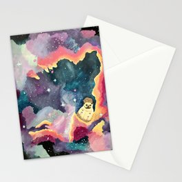 Hedgehog in a Space Nebula Stationery Cards