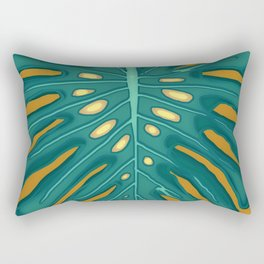 Monstera Flying to Autumn 2 Rectangular Pillow