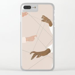 Wired Together Clear iPhone Case