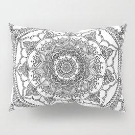 White Henna Bloom Pillow Sham