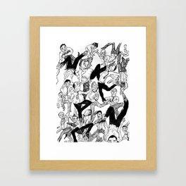 The Scuffle Framed Art Print