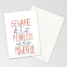 BEWARE, FEARLESS, POWERFUL: FRANKENSTEIN by MARY SHELLEY Stationery Cards