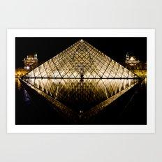 Musee Louvre Pyramid Art Print