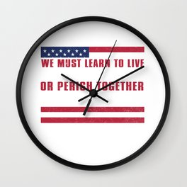 Martin Luther King Jr American Flag Wall Clock