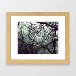 Icy Chill in Black and White Framed Art Print