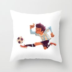 Lionel Messi, Argentina Jersey Throw Pillow