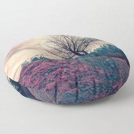 Japanese Mountains Floor Pillow