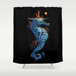 dream in blue Shower Curtain