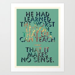 Literary Quote Poster — American Pastoral by Philip Roth Art Print