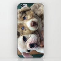 puppies iPhone & iPod Skins featuring Puppies by Camila Mariel