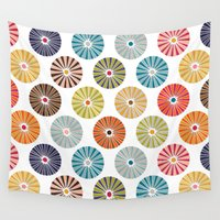 carousel Wall Tapestries featuring carousel by Sharon Turner