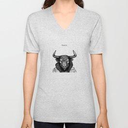 Taurus (the bull) Unisex V-Neck
