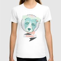 pitbull T-shirts featuring Pastel Pitbull by Minette Wasserman