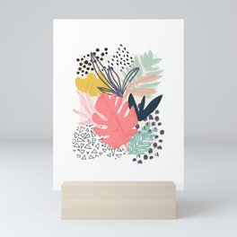 TROPIC COLLAGE ABSTRACT MODERN Mini Art Print