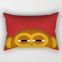 Pocket monkey is highly suspicious Rectangular Pillow