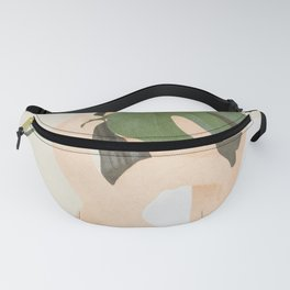 Under the Monstera Leaf Fanny Pack