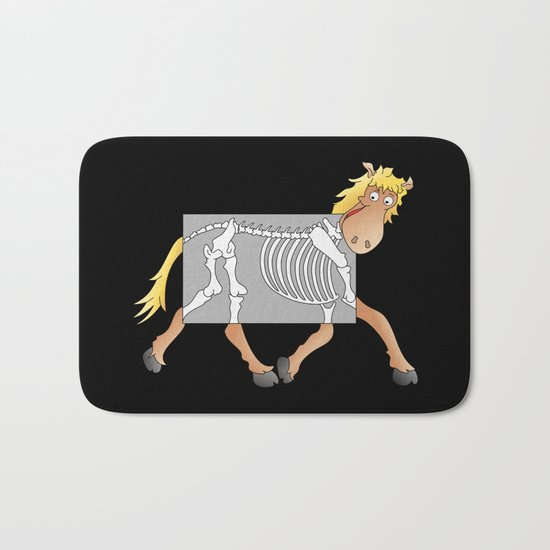 Horse Xray Cartoon Bath Mat