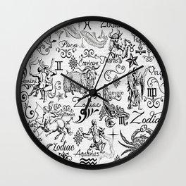 ZODIAC CANVAS CALLIGRAPHY Wall Clock