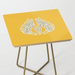 Snow Cheetahs Side Table