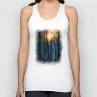 trees Tank Tops featuring Red feather dance  (colour option) by Viviana Gonzalez