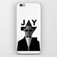 jay z iPhone & iPod Skins featuring JAY-Z by olivier silven