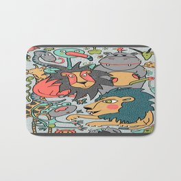 animals are cool Bath Mat