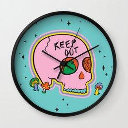 Keep Out Frog Skull Wall Clock