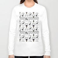 deco Long Sleeve T-shirts featuring Deco Greyhound by naturessol