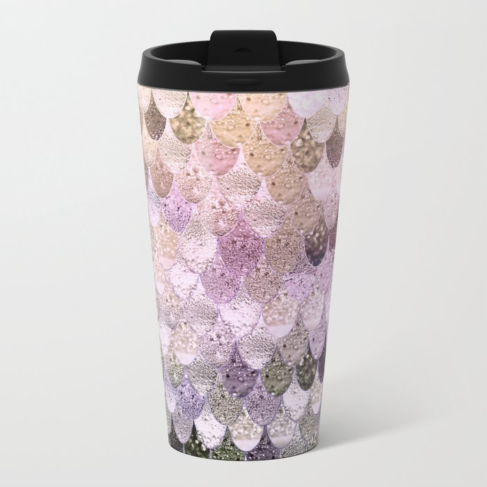 SUMMER MERMAID MOONSHINE GOLD Metal Travel Mug