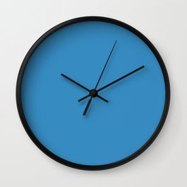 Solid Glacial Blue Ice Color Wall Clock